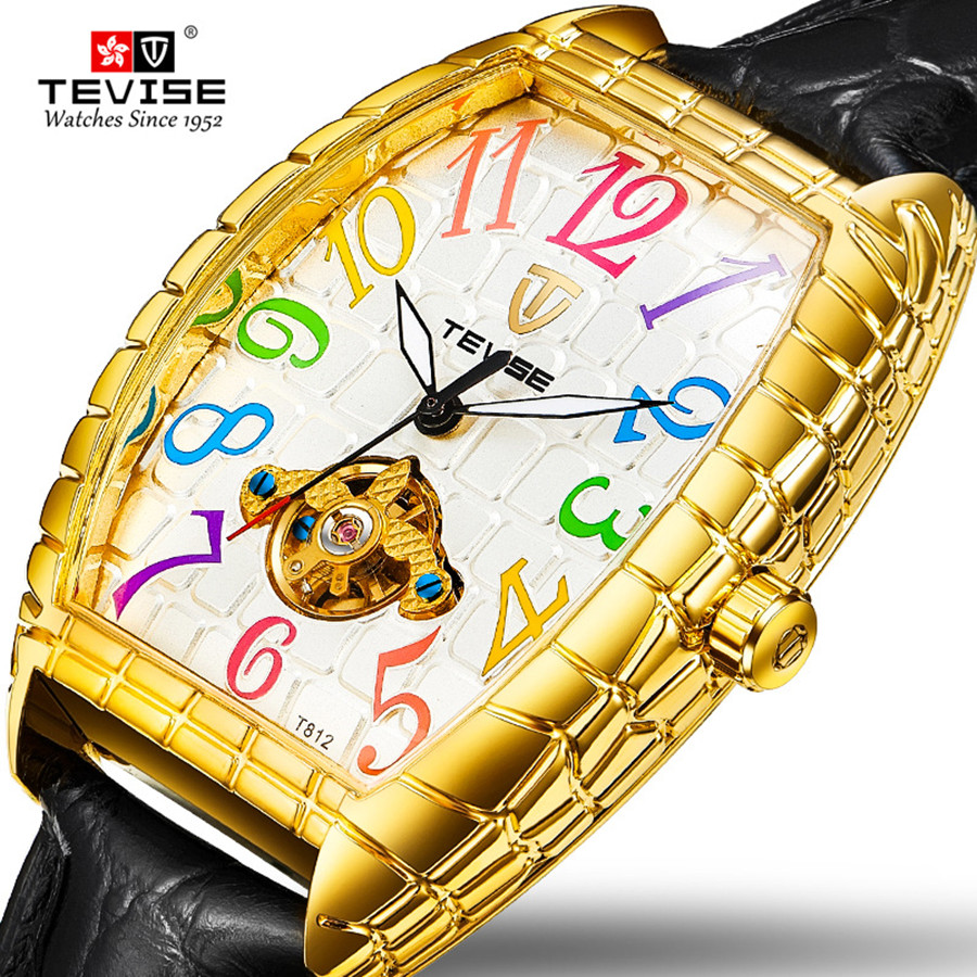 TEVISE Fshion Casual Watches Men Automatic Mechanical Watch Waterproof Male Luminous Time Display Wristwatch Gift for