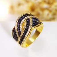 Gorgeous Design Ring Ladies Fashion Rings 2 Tones Color For Bridal Wedding Top Sell High Quality