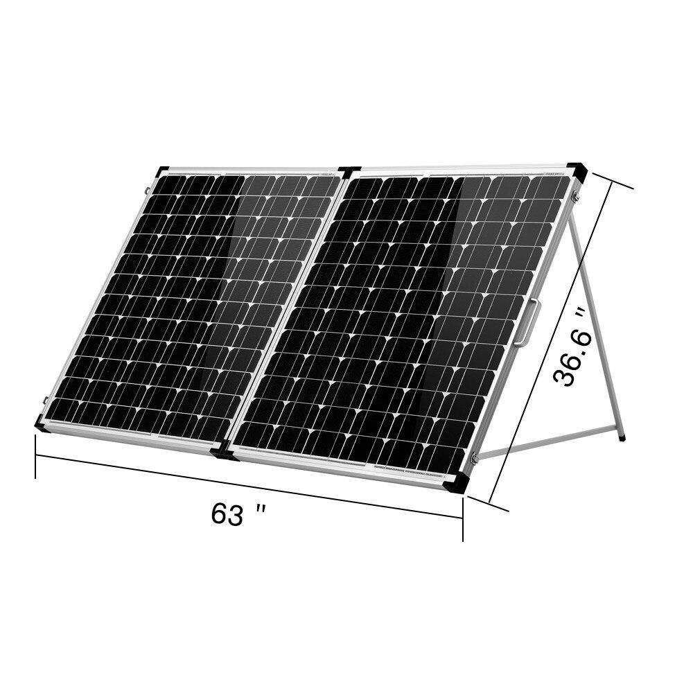 Dokio 18V 200W Dobrável Painel Solar China Célula Painel Solar Carregador de Bateria painel Solar 200W Painel Com 12/24V Controlador
