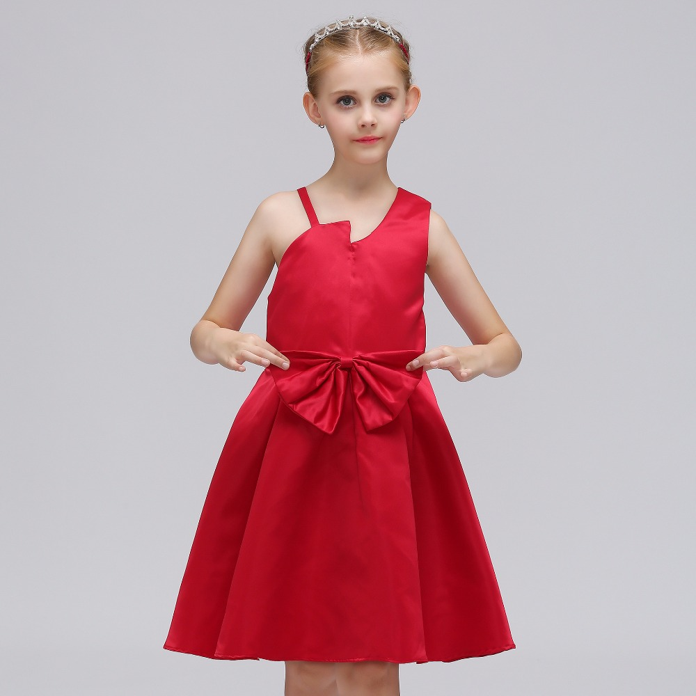 Sleeveless A-line Blue Little   Flower     Girl     Dresses   for Weddings First Communion   Dresses   For   Girls   Kids Evening Gowns 2019