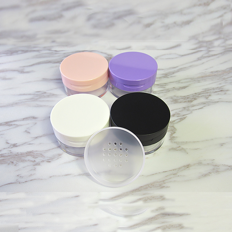 10/20/30pcs/lot 20g Empty Cosmetic Loose Powder Case Box & Sifter Puff mirror DIY Plastic Makeup Powder Compact Jar Pot Bottle 25pcs powder paillette rhinestone storage plastic box case nail art cosmetic empty jar pot makeup face cream container bottle