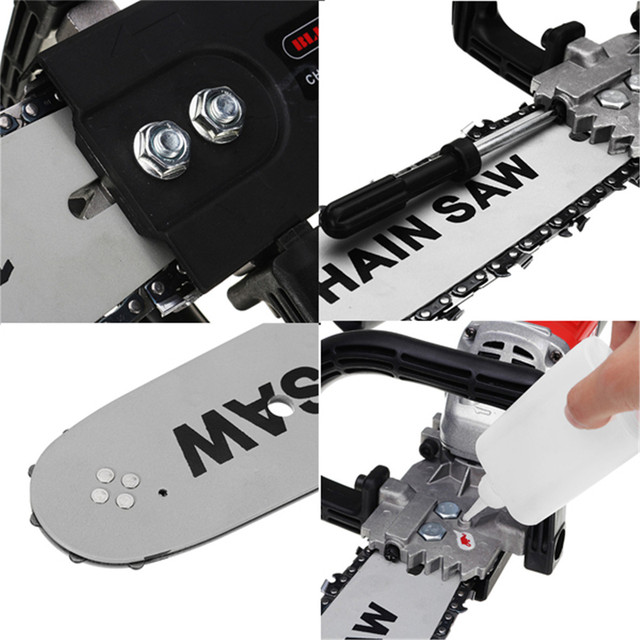 DIY Electric Saw Chainsaw Bracket Set High Carbon Steel M10 Transfer Conversion Head For 4 Inch Angle Grinder Power Tool Parts 4