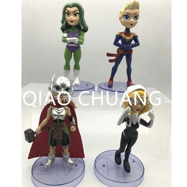 Maravilha Mulheres Princesa Diana de Super-heróis Da Liga Da justiça 4 pçs/set Avengers PVC Action Figure Collectible Modelo Toy L1444
