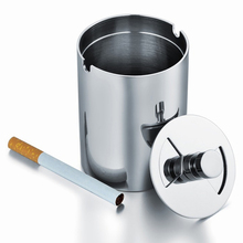 Stainless Steel Rotation Lid Car Ashtray Smoking Cigarette Ash Holder Container 0615creative oil drum shaped stainless steel ashtray pen holder white green red