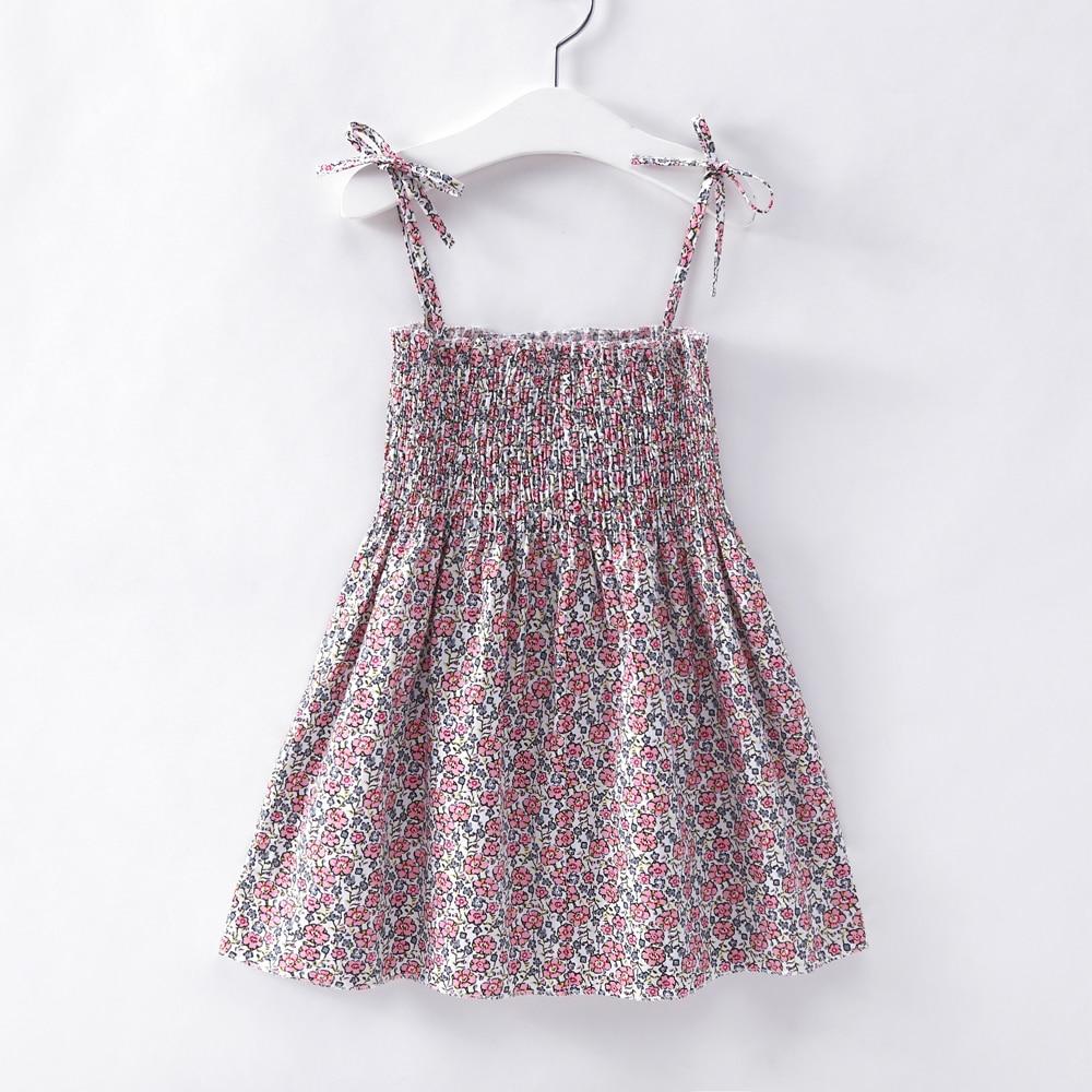2019 Summer Kid Baby Girl Fashion Princess Floral Backless Sling Dress Children Girls Toddler Sleeveless Clothes Dresses