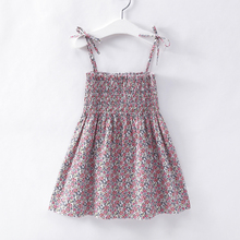 2019 Summer Kid Baby Girl Fashion Princess Floral Backless Sling Dress Children Girls Toddler Sleeveless Clothes Dresses цены