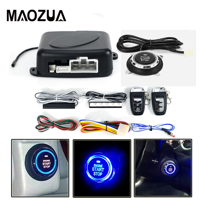 Auto Car Alarm One Start Stop Engine Car Remote Control PKE Keyless Push Button Entry System Starter Anti-theft System pke smart car alarm system is with passive auto lock or unlock car door keyless go push button start stop remote start stop