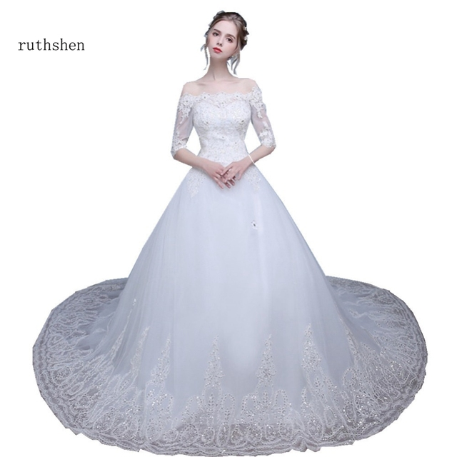 Ruthshen 2018 Real Photo Prinzessin Ballkleid Brautkleider Bling ...
