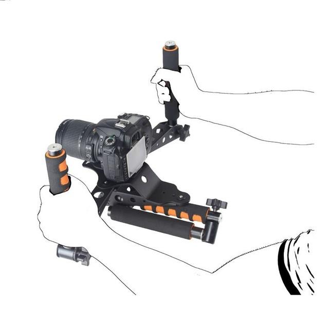 Kits de equipos de vídeo 5D2 5DII DSLR cámara slr conjunto mango jaula rig dslr kit película del montaje del hombro estabilizador steadicam steadycam