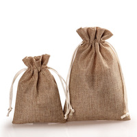 Solid Color Drawstring Jute Bag Fabric Bag Accessories Pouch Bag Free Shipping