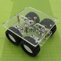 Acrylic N20 N20 Smart Car Gear Motor Car Chassis Robot DIY Miniature Model Frame