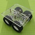 Transparencia de Acrílico N20 4WD Smart car chassis robot de Dos capas kit DIY