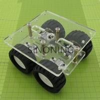Transparenz Acryl N20 4WD Zwei schicht Smart auto chassis roboter DIY kit