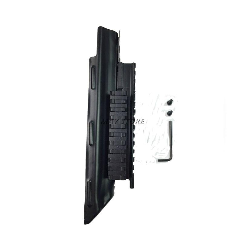 ล่าสัตว์ปืนไรเฟิลยิงอุปกรณ์เสริมยุทธวิธีชิงทรัพย์สีดำรับปกAK AK47 Tri-รถไฟPicatinnyขอบเขตภูเขา