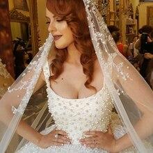 2017 Princess Wedding Dresses Luxury Abaya Arab Islamic Appliques Lace Pearls Beading Bridal Gowns