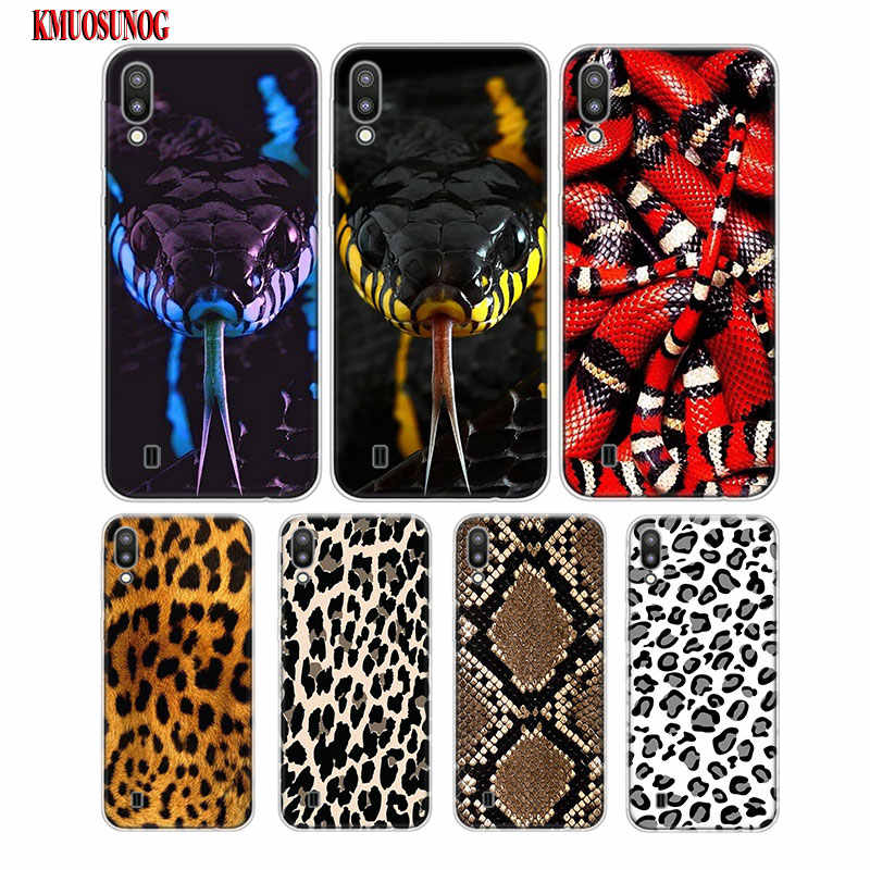 Transparent Soft Silicone Phone Case Snake Leopard Print  For Samsung Galaxy S10 S10Plus S10e M20 M10 Cover
