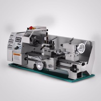 Cross Slide 4 5/8 (117 mm) Variable Speed Lathe 50 to 2500 RPM Metal Processing Metal Lathe 8x16 Inch