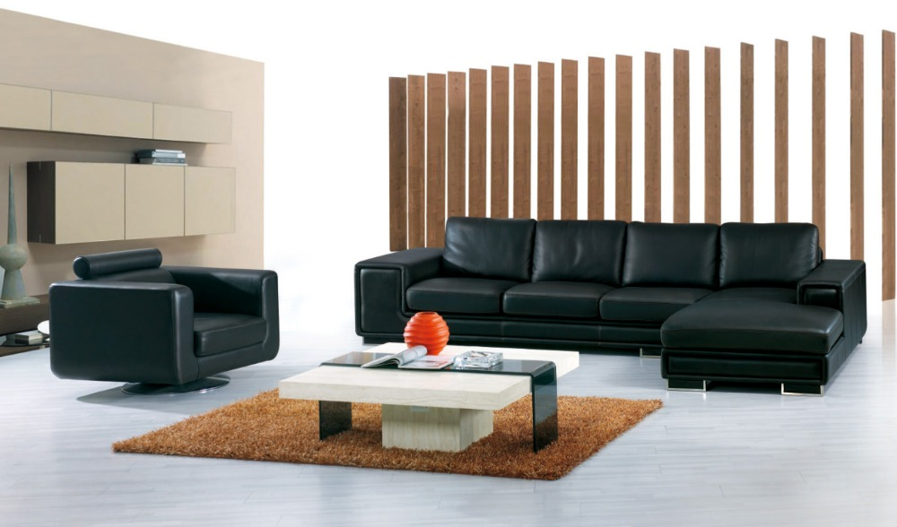 cow genuine/real leather sofa set living room sofa sectional/corner sofa set home furniture couch/L shape big size+ swivel chair