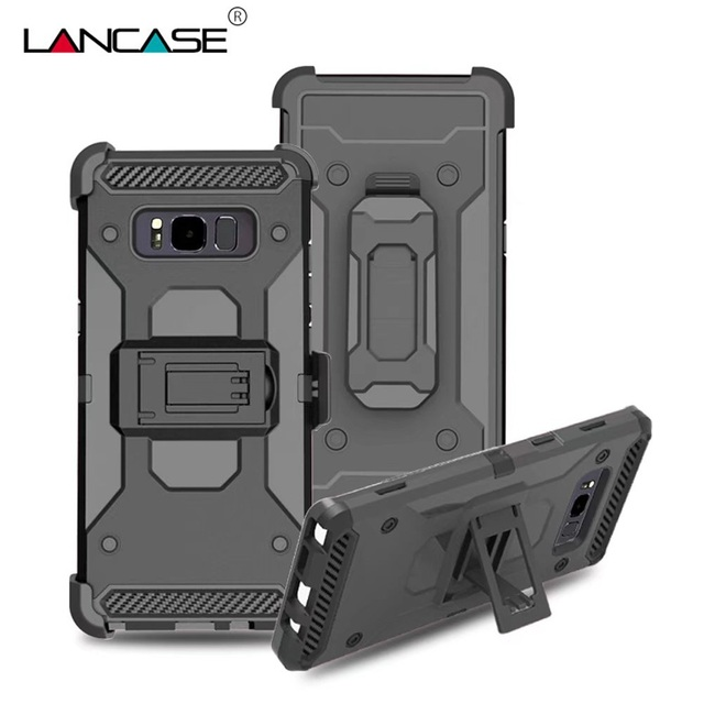 detailed look 5c511 d8106 US $11.19 |LANCASE For Samsung Galaxy Note 8 Case Belt Clip Armor  Shockproof Case For Samsung Note 8 Cover Stand Holder Phone Cases Note 8-in  Holsters ...