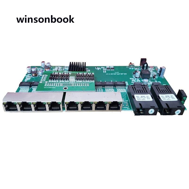 Обратное POE питание 10/100/1000 м гигабитный Ethernet коммутатор волоконно оптический одиночный режим 8 RJ45 и 2 SC волоконная материнская плата-in Сетевые коммутаторы from Компьютер и офис
