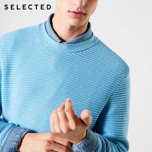 Image 5 - נבחר גברים של 100% כותנה עגול מחשוף סוודרי החורף חדש רגיל Fit סרוג סוודר S
