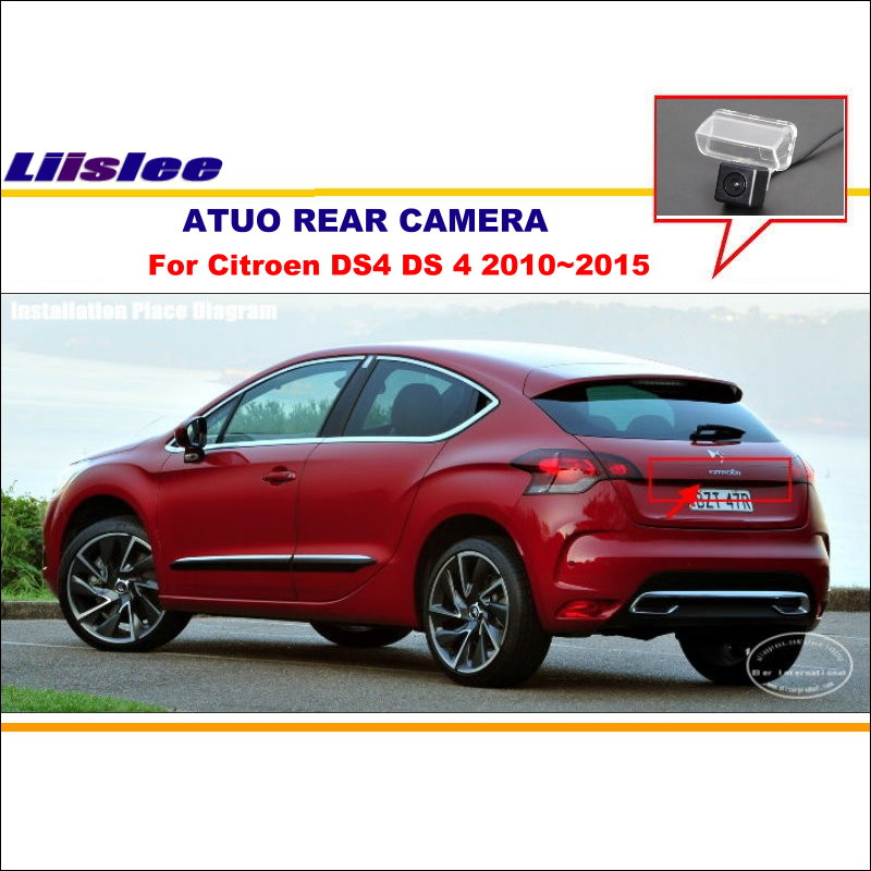 Liislee Car Rear View Camera For Citroen DS4 DS 4 2010~2015 / Reverse Camera / HD CCD RCA NTST PAL / License Plate Lamp Camera