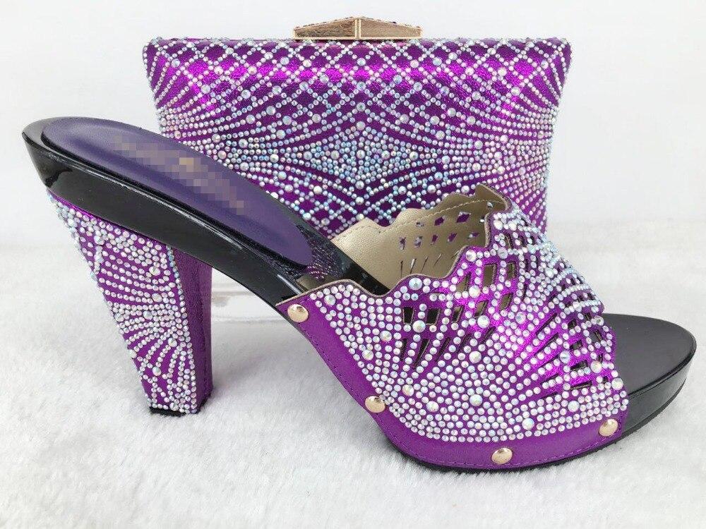 ФОТО Purple Shoe and Bag To Match Italian Women Shoe and Bag To Match for Parties Italian Matching Shoe and Bag Set Wedding Shoes Bag
