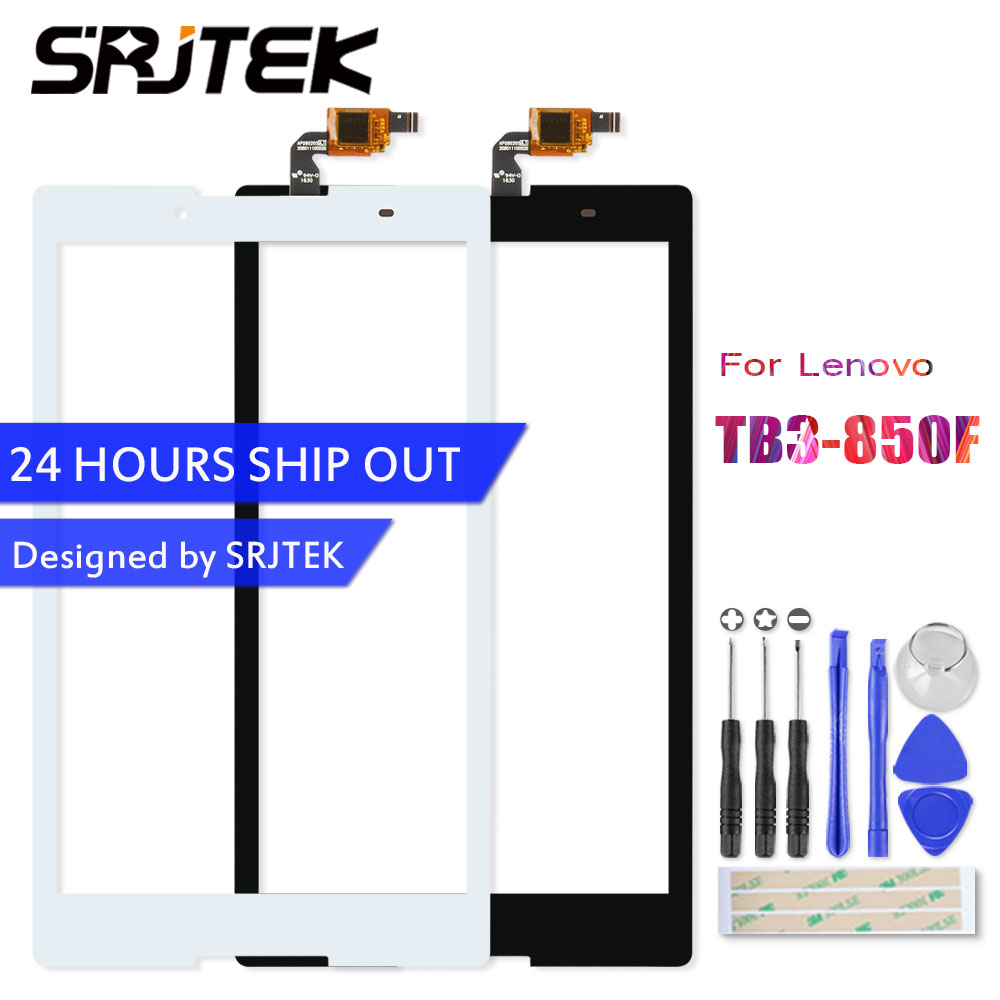 Srjtek For Lenovo Tab3 Tab 3 8 850 TB3-850 TB3-850F TB3-850M Touch Panel Touch Screen Digitizer Glass Sensor Replacement original 14 touch screen digitizer glass sensor lens panel replacement parts for lenovo flex 2 14 20404 20432 flex 2 14d 20376
