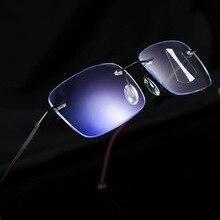 Синий светильник, очки для чтения, мужские, прогрессивные, многофокальные очки, женские, близкий дальний прицел, сплав, оправа, очки, диоптрий NX