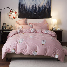 Fashion bedding sets bed linen Simple Style duvet cover flat sheet Bedding Set Winter Full King  Queen,bed set 2019