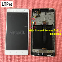 White Top Quality Full LCD Display Touch Screen Digitizer Assembly With Frame For Xiaomi 4 M4