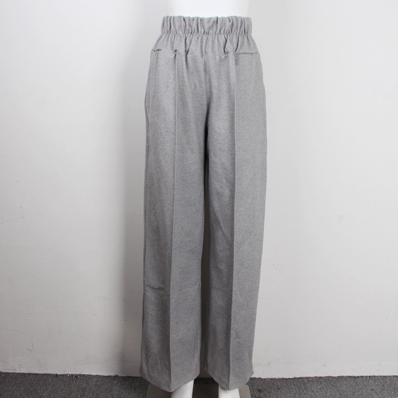 FATIKA Autumn Winter Women Loose Casual Long Pants New 19 Elastic Waist Fashion Thick Wide Leg Pants Stylish Trousers 8