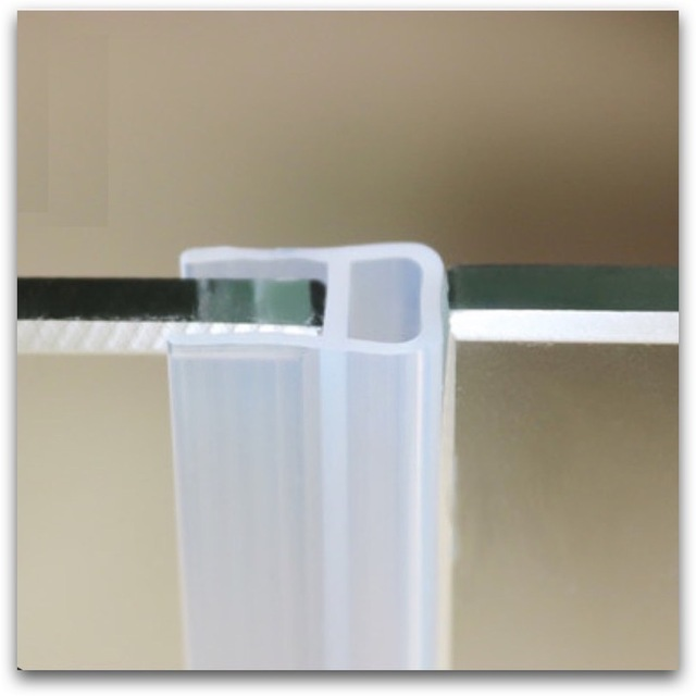 Draught Excluder Silicone Sealing Strip Sliding Sash Glass Shower
