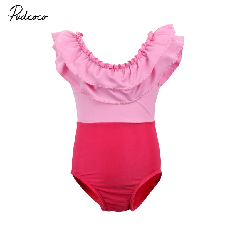 Fashion Women Kids Baby Girls Swimsuit Swimwear Off Shoulder Beachwear Bikini Baby Girl  ...