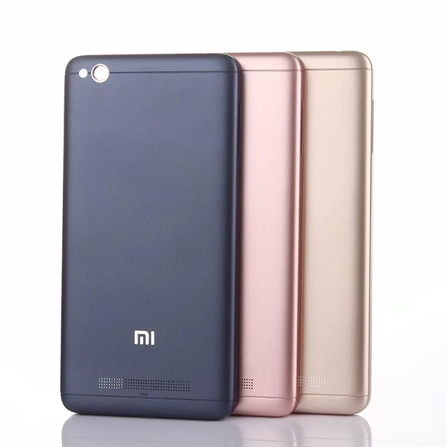 best sneakers d3856 0a706 US $13.99 |Redmi 4A Official Original Plastic Cover Case for Xiaomi Redmi  4A Back Battery Cover Housing Replacement Parts + Card Slot-in Fitted Cases  ...