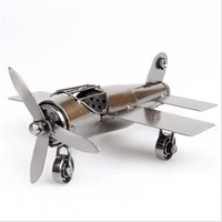 Metal Airplane Models Retro Aircraft Flying Glider Plane Pendant Children Kids Toys Game Prizes Gifts Home