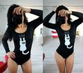 2017 New Sexy Black Rompers Womens Jumpsuit Cartoon Animal Print Bodysuit Hollow Out Backless Female Fitness Night Club Clothes