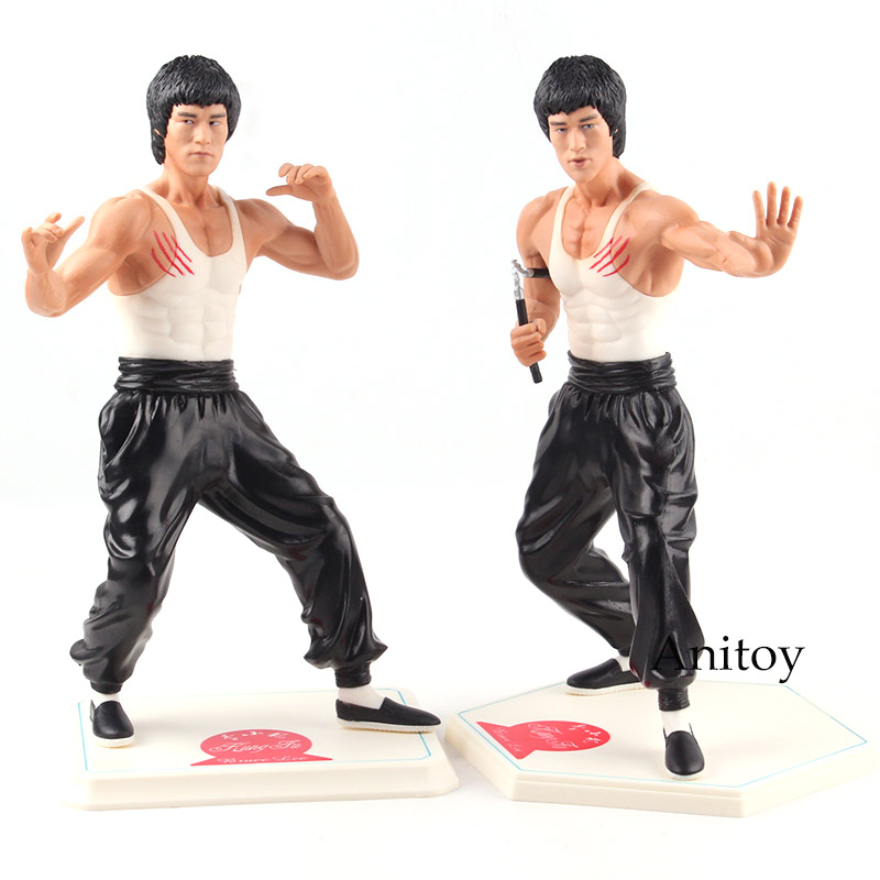 Kung Fu Star Bruce Lee Doll PVC Action Figure Collectible Model Toy 26cm