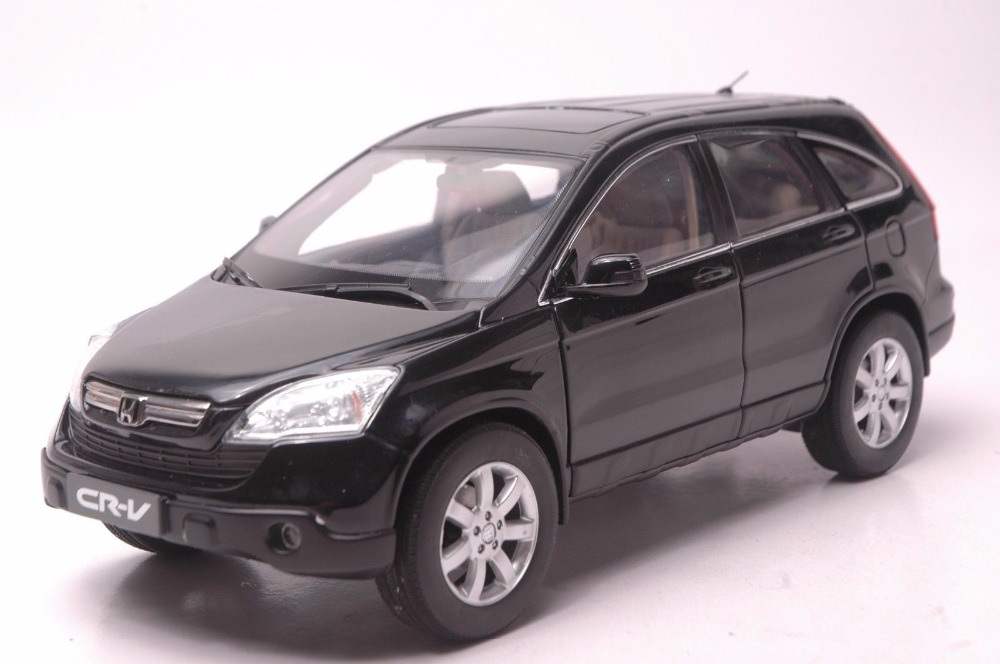 1:18 Diecast Model for Honda CR-V 2008 Black SUV Alloy Toy Car Miniature Collection Gifts CRV CR V for honda crv cr v 2017 2018 stainless steel inner