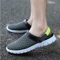 Sandálias 2016 novas sandálias de verão malha respirável sapatos de malha sapatos sandália masculina