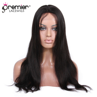 PREMIER Silk Top Lace Front Wigs Luxury Brazilian Virgin Human Hair Straight [SLFW B S]