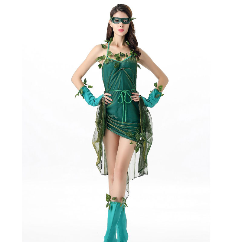 2016 halloween anime dresses tinker bell cosplay tinkerbell costume green fairy pixie adult costume w1860 - Green Fairy Halloween Costume