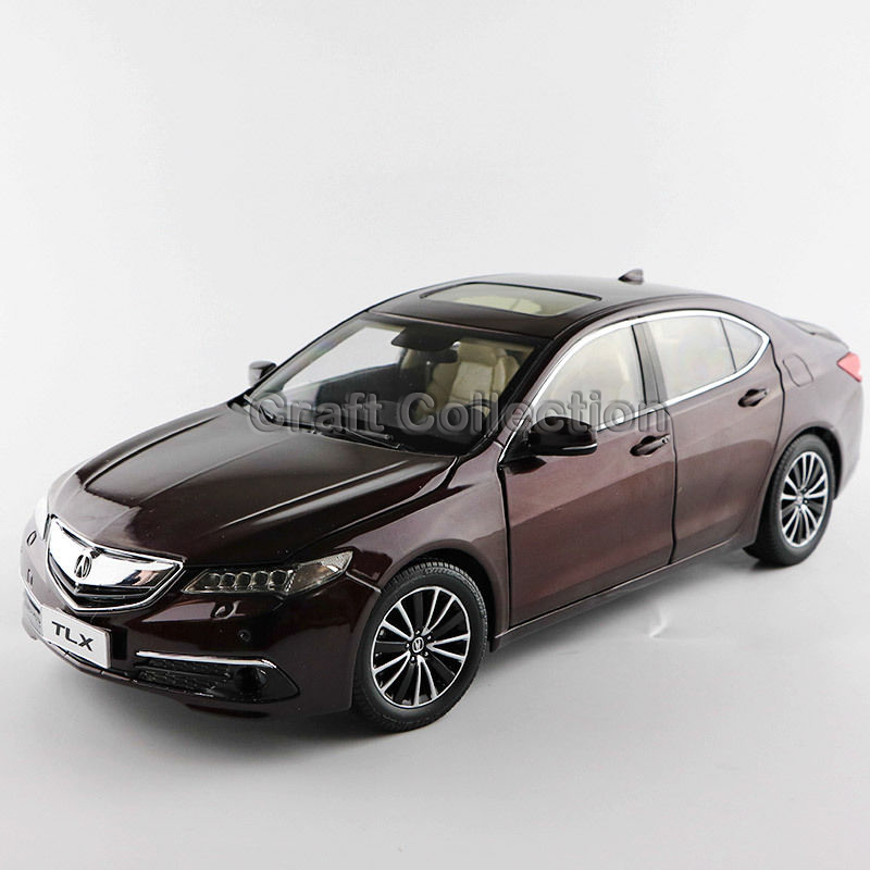* Brown 1:18 Honda Acura TLX 2015 Luxury Vehicle Diecast Model Show Car Miniature Toys Alloy Gifts Collection Minicar