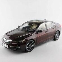 * Marrone 1:18 honda acura tlx 2015 di lusso del veicolo diecast model mostra giocattoli in lega auto in miniatura regali collezione minicar