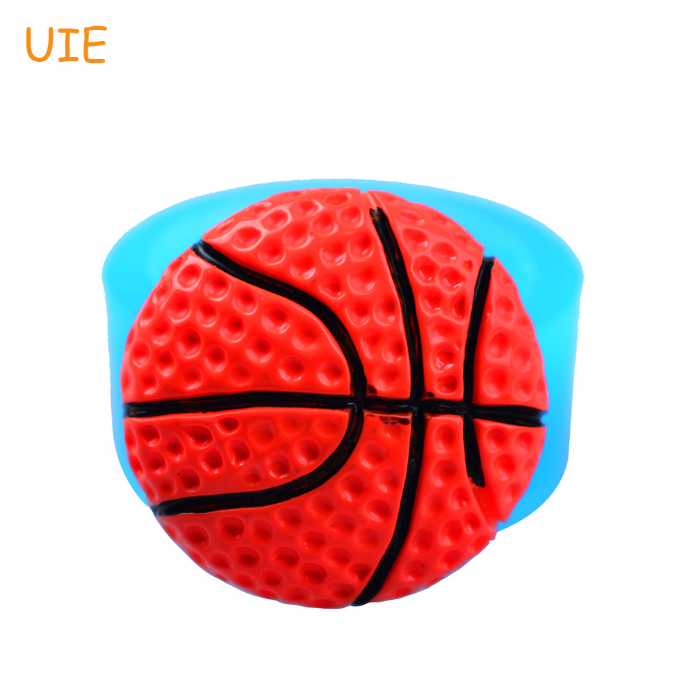 7e7e60837bebe FYL038U 25.8 ملليمتر نصف كرة السلة مرنة سيليكون القالب كب كيك توبر ، فندان  ، Sugarcraft ، الحلوى ، البسكويت ، الراتنج الطين