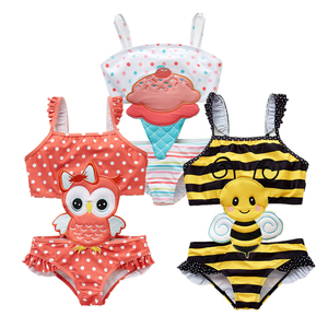 2019 Kavkas Girls Swimwear Cute Kids Swimsuit Infant 12M-8T Kid Baby Girls Bikini Ruffles Swimsuits One Pieces Bath Swimwear(China)