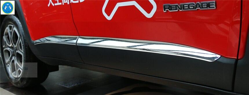 Lapetus Chrome porte latérale corps bas moulures couvercle moulage garniture couvercle garniture pour Jeep Renegade 2015 2016 2017 2018 2019/ABS
