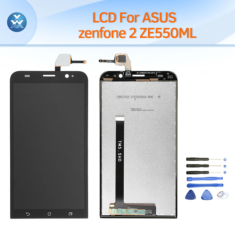 A+ mobile phone LCD for ASUS ZenFone2 ZE550ML LCD display touch screen digitizer full assembly replacement Zenfone 2 ZE 550ML