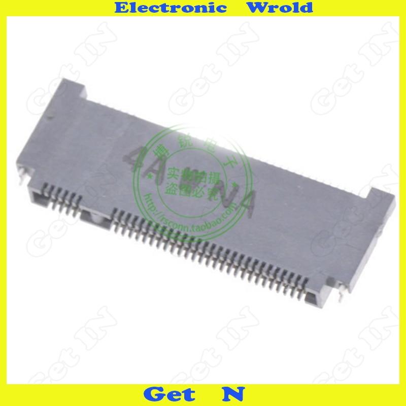 Image 2 - 5 шт. NGFF интерфейс разъем ключ B Shen пластина Тип M.2 розетки Высота 1,5 мм 67Pin с передней вилкой и задней SMD-in Соединители from Товары для дома