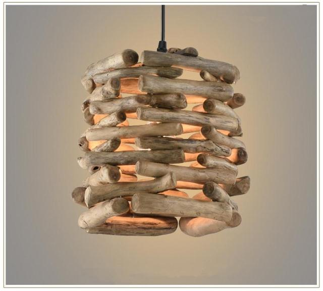 Solid Wooden Pendant Lights industry retro wooden lamp restaurant with bar clothing store creative personalized cafe bar ZA MZ48 rope pendant lamps personalized retro bar creative minimalist clothing store restaurant bar cafe chandelier